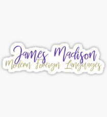 James Madison Modern Foreign Languages  Sticker