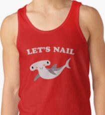 Lassen Sie uns Hammerhai Shark Valentinstag Nagel Tank Top