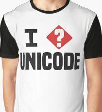 I Love Unicode Programmer Humor Light Graphic T-Shirt