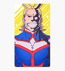 All Might - Boku No Hero Academia Photographic Print