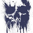 Skull Drip (Blue) by PixelBoxPhoto