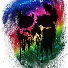 Skull Drip (rainbow) by PixelBoxPhoto