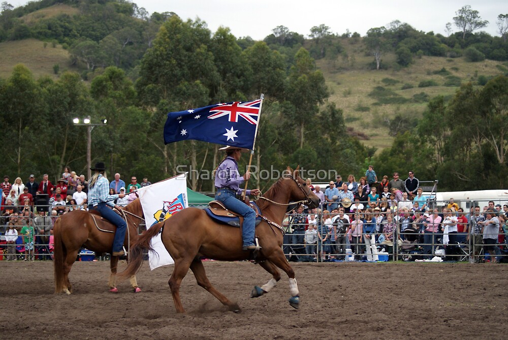 Picton Rodeo 2 Aust Flag by Sharon Robertson