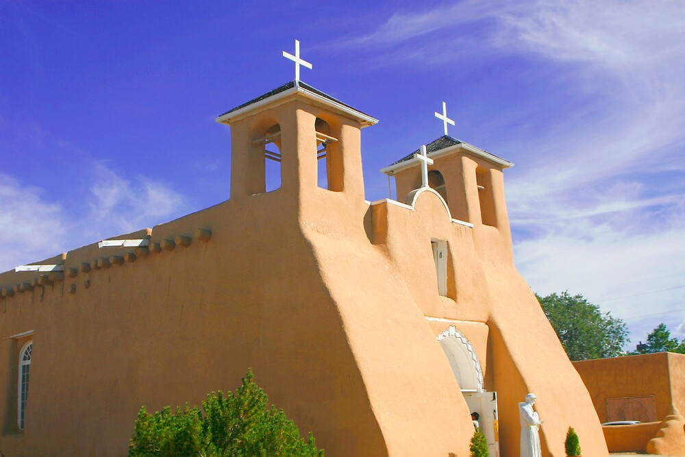St. Francis Assisi, Taos, New Mexico by Virginia Maguire