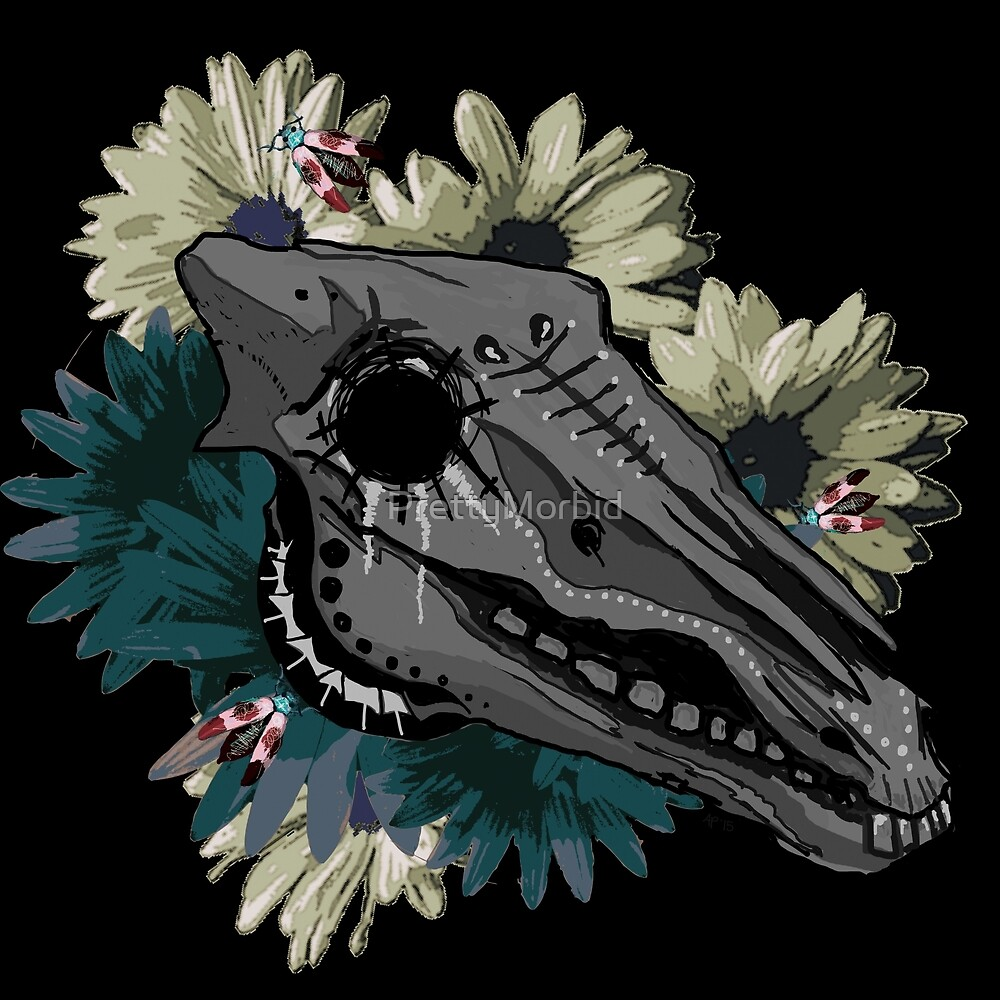 Horse Skull by PrettyMorbid