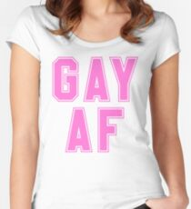 gay af Women's Fitted Scoop T-Shirt