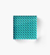 BlueBlack Pattern Acrylic Block