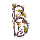 Natural alphabet  - letter B by Elsbet