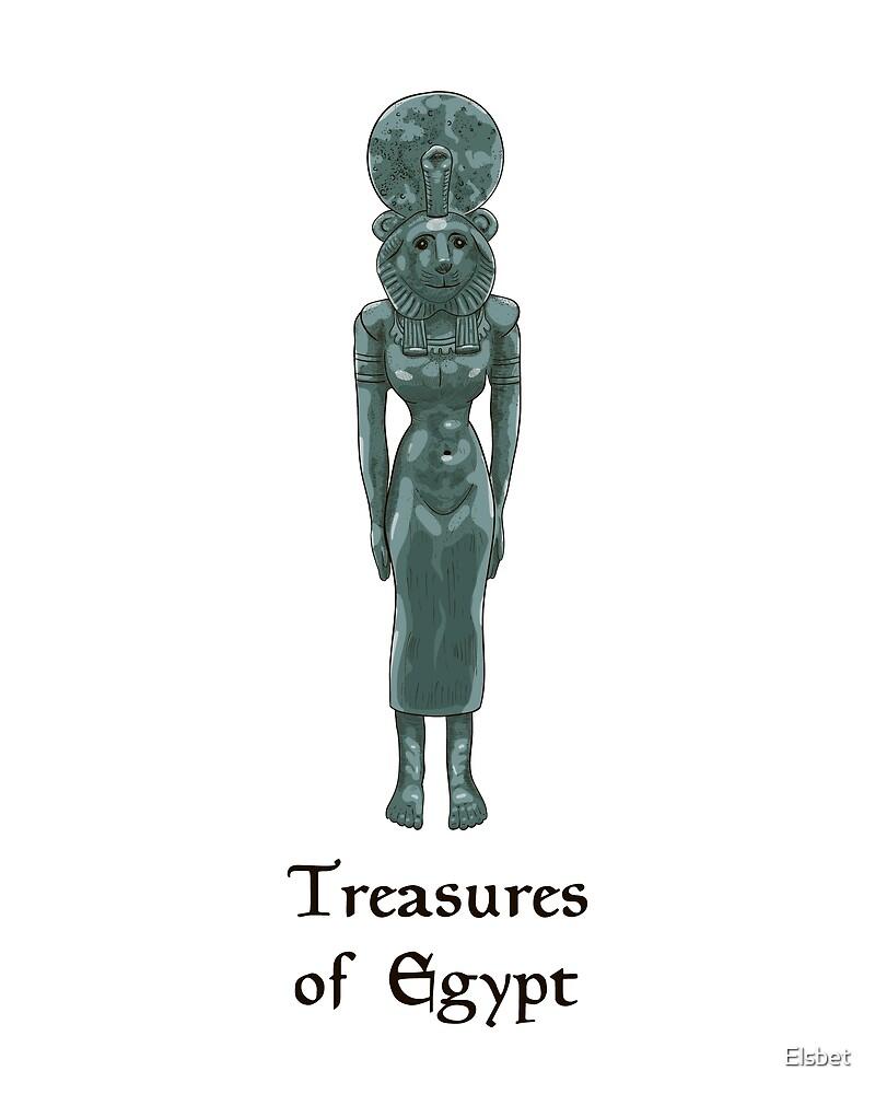 Lapis lazuli goddess Sekhmet - treasures of Egypt by Elsbet