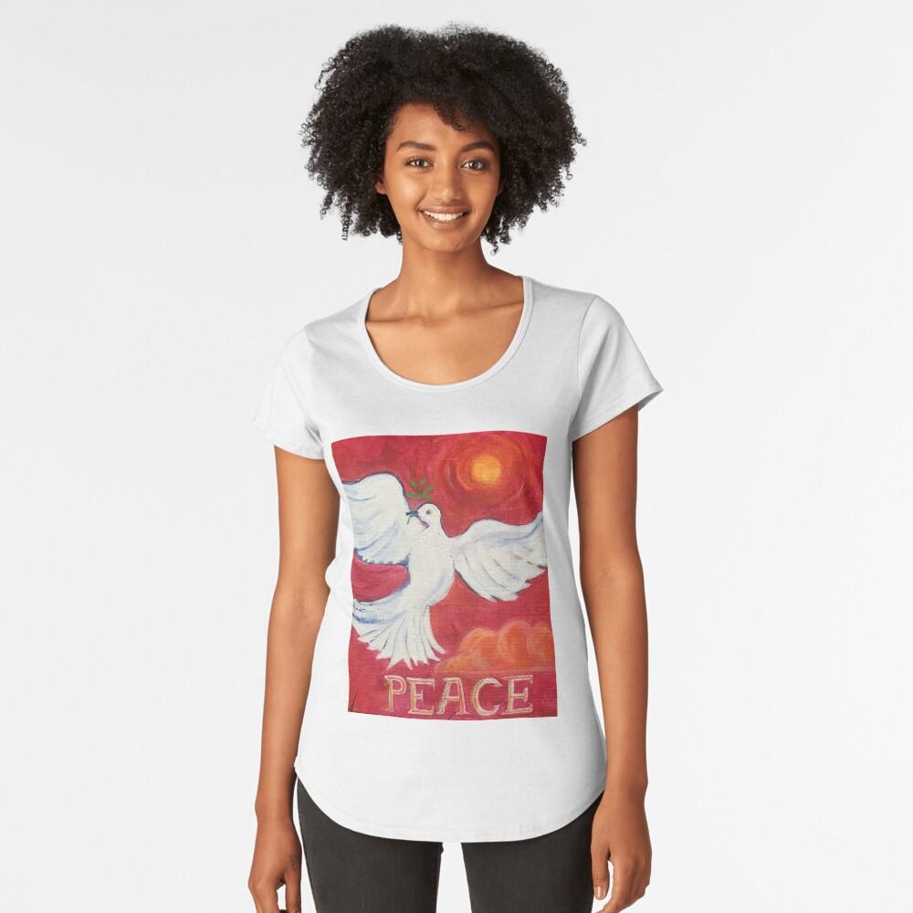 Peace  Women's Premium T-Shirt Front
