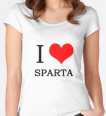 I heart sparta Women's Fitted Scoop T-Shirt