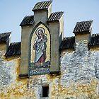 Saint Notburga on Ansitz Ris in Flaurling Tyrol Austria by Elzbieta Fazel
