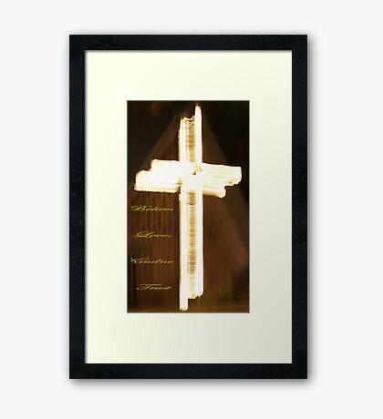 Believe; Love, Kindness, Trust Framed Print