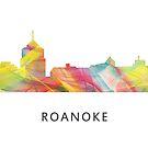 Roanoke, Virginia Skyline WB1 von Marlene Watson
