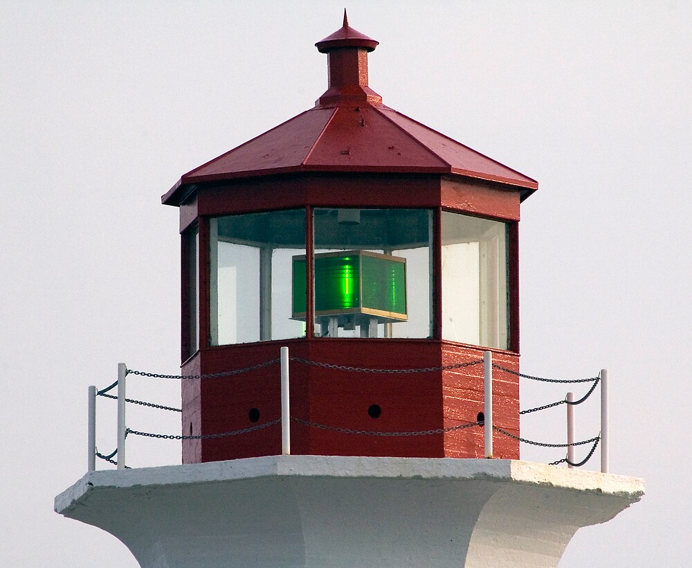 Peggy's Point Light by Roxane Bay