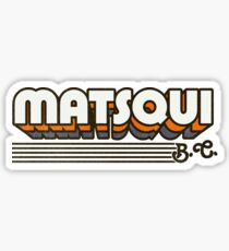 Matsqui, BC | Retro Stripes Sticker