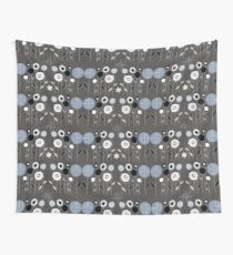 Topiary Silver Wall Tapestry