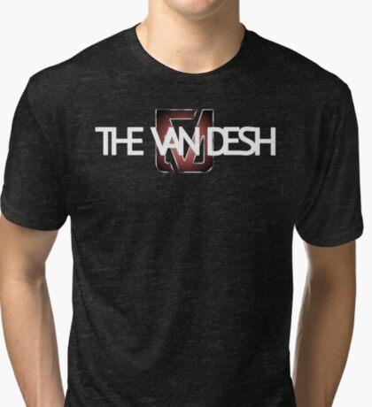 White text Logo Tri-blend T-Shirt