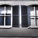 Bay Street Windows by Cyn Piromalli