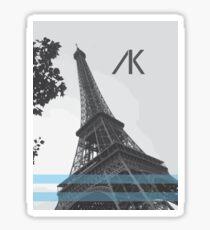 AK Paris Blue  Sticker