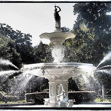 Forsyth Park Fountain by cyn75