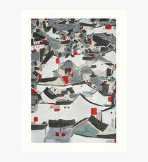 Hutong Abstraction Art Print