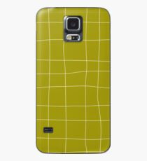 Yellow and white check, square, plaid pattern Case/Skin for Samsung Galaxy