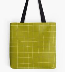 Yellow and white check, square, plaid pattern Tote Bag