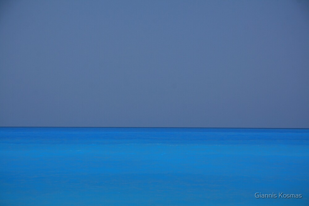 Nothing but blue sea and sky by Giannis Kosmas