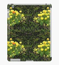 Yellow Tulip Flower Bed iPad Case/Skin