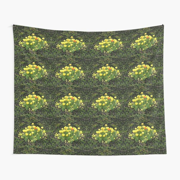 Floriade - Yellow Tulip Flower Bed Tapestry
