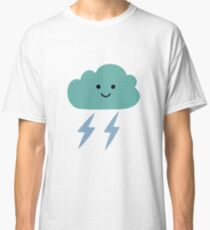 Simple children's doodle pattern with clouds Classic T-Shirt