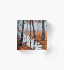 Fallen Leaves Acrylic Block