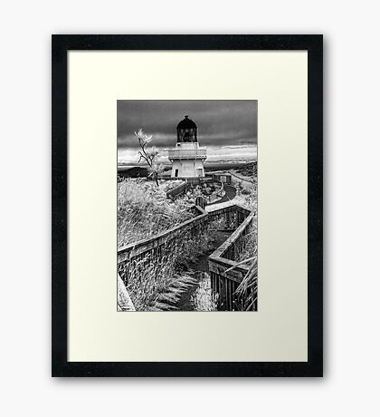 Awhiti Lighthouse Framed Print