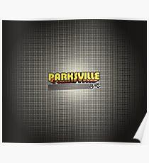 Parksville, BC   Retro Stripes Poster