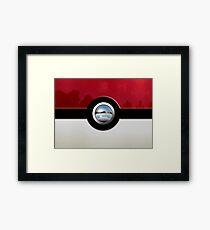 Red Pokeball Framed Print