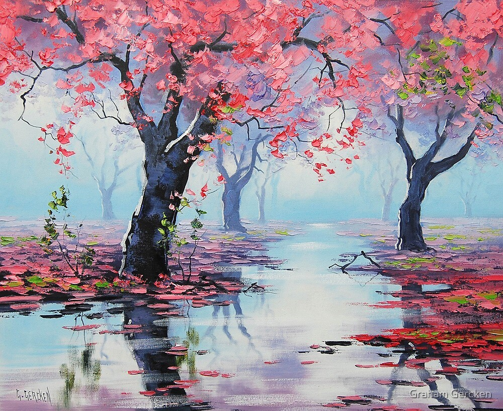Spring Blossom Trees by Graham Gercken