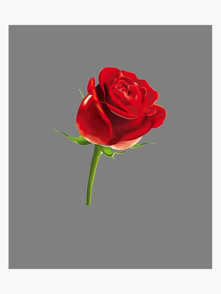 Singe Rose Flower Emoji Fotodruck Von Printpress Redbubble