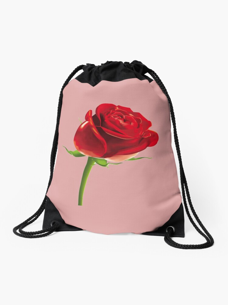 Singe Rose Flower Emoji Turnbeutel Von Printpress Redbubble