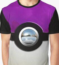Gengar Monster Purple Pokeball Graphic T-Shirt