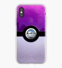 Gengar Monster Purple Pokeball iPhone Case