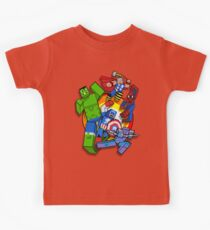 Cute Cube Superhelden Gruppe Kinder T-Shirt