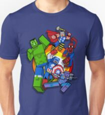 Cute Cube superheroes Group Unisex T-Shirt