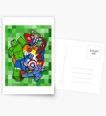 Cute Cube superheroes Group Postcards