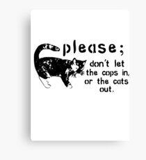 Cops&Cats Canvas Print