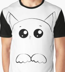 drawing cat face with paws Graphic T-Shirt