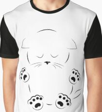 drawing sad kitty with paws Graphic T-Shirt