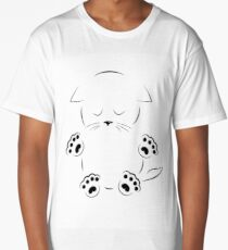 drawing sad kitty with paws Long T-Shirt