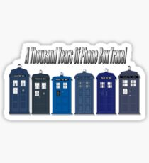 Thousand Years Of Phone Box Travel Sticker