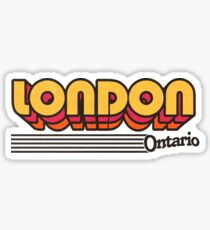 London, Ontario   Retro Stripes Sticker